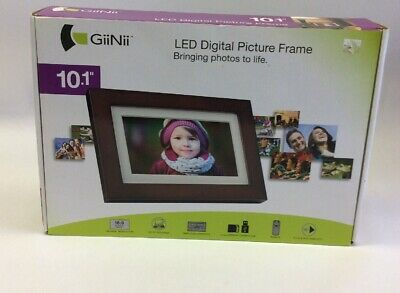 "New Giinii 10.1"" Led Digital Picture Frame GH-A12P"
