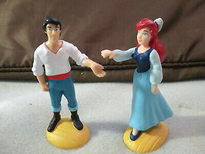 DISNEY The LITTLE MERMAID - ARIEL & ERIC PVC Figures Applause- Cake Toppers-NEW