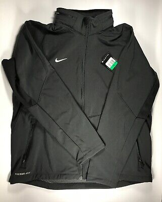 Men/'s Nike Team Sphere Hybrid Black Therma-Fit FZ Jacket Hooded 658084 010 Small