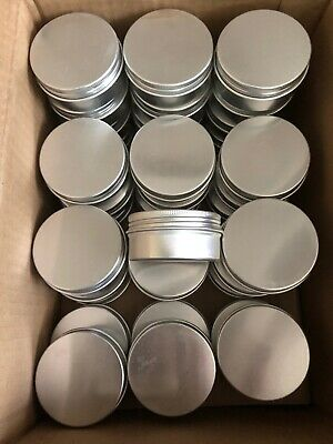 Lot 36 Pcs 100 ML Cosmetic Jar Tub Aluminum Screw Top Tin Herb Spice