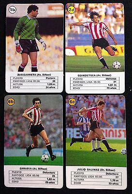 Lote 4 Cartas Athletic De Bilbao Temporada 86-87