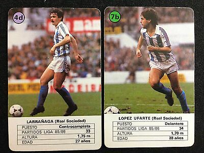 Lote 2 Cartas Real Sociedad Temporada 86-87