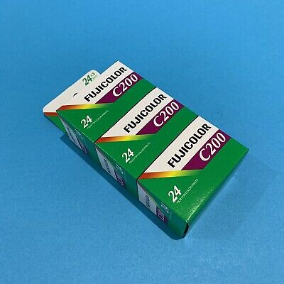 Fujifilm C200 Triple Pack 24 Exposures - Expired Late 2018 - Set Of THREE Films
