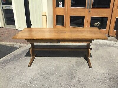 A 6ft 19th Century Pine antique farmhouse table.
