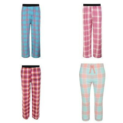 Girls pyjama bottoms lounge pyjamas cotton checked