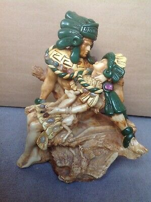 Native American Indian Warriors Statue Sculpture of fallen warrior with deer