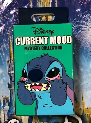 Disney Parks Current Mood Pin Mystery Box Sealed Includes 2 Pins Stitch UNOPENED