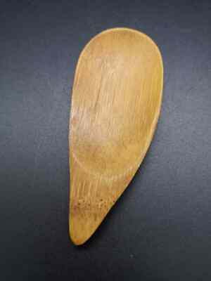 Japanese Wooden Bamboo Ceremony Tea Caddy Spoon