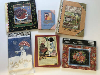 MARY ENGELBREIT 6pc Misc Lot Notecards - 3 Books for Gifting Christmas