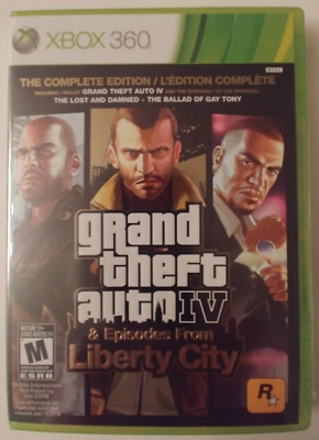 Grand Theft Auto Iv & Episode From Libertycity Xbox 360 Brand New & Sealed