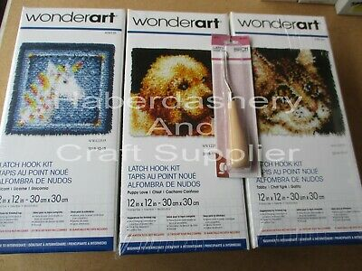 WONDERART LATCH HOOK KIT 30CM x 30CM PIC 1 DESIGN *LATCH HOOK