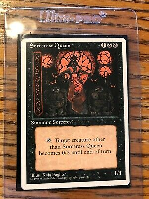 Magic The Gathering ~ 1x Sorceress Queen ~ 4th Edition ~ M//NM