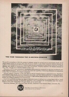 1960 Infrared Research 10 Micron RCA Electron Tube Division Lancaster PA Ad