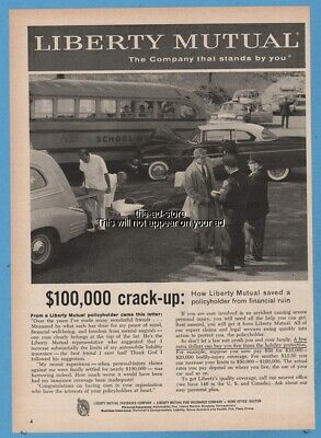 1959 LIBERTY MUTUAL Insurance car accident midnight tragedy