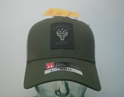 Project Rock Under Armour Pro Fit Blood Sweat Respect Green Mesh Snapback Hat