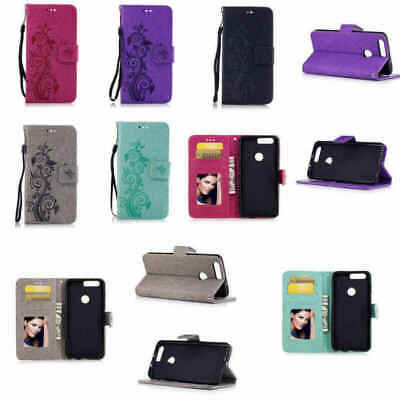 Silicone Phone Cover Case For Huawei Honor8 Flip Wallet Butterfly PU Leather