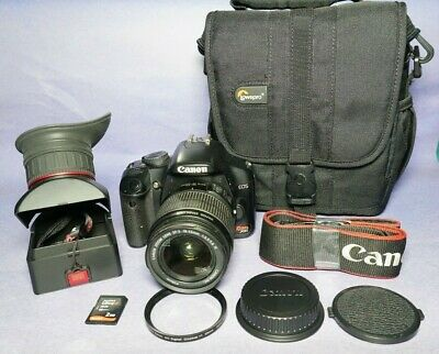 Canon Rebel Xsi Dslr Eos Camera With Ef/S 18-55 Lens And Accessories