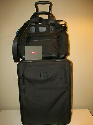 TUMI Conential Rolling Carry On & Matching TUMI Brooks Black Laptop Bag, NWT