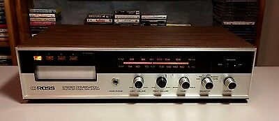 Ross 6601 Stereo Combination Multiplex Tuner 8 track Tape System free ship ✅