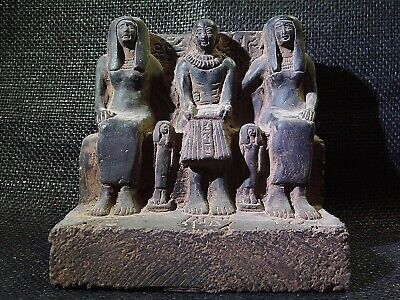 EGYPTIAN ANTIQUE ANTIQUITY Priest Ptahmai Family Stela Relief 1303-1213 BC
