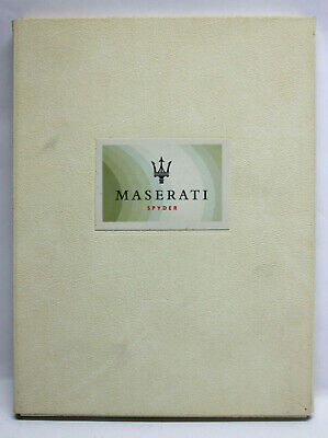 MASERATI SPYDER Media Folder with CD-Rom - Information & Pictures