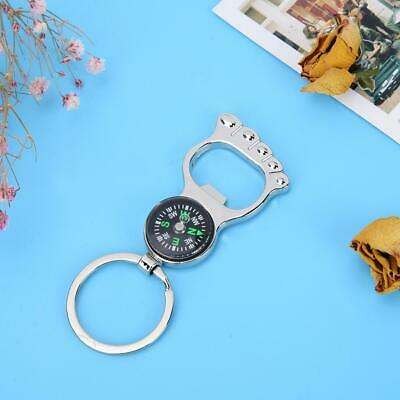 Exquisite Unisex Fashion Compass Metal Car Keyring Keychain Ring Keyfob
