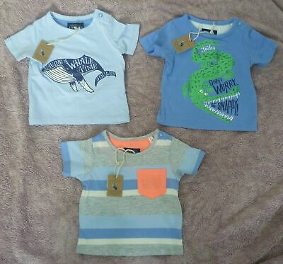 BNWT JOULES Baby Boys Holiday T-shirt Top - Age 0 - 3 Months (6kg) - 3 designs