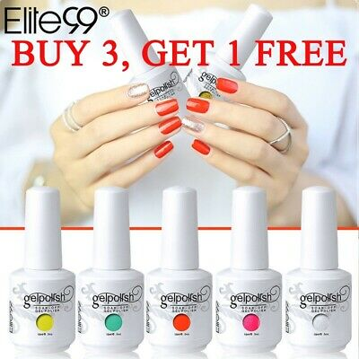 Elite99 Colors Gel Nail Polish Soak Off Varnish Lacquer Base Top Coat Shiny 15ML