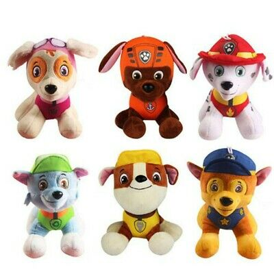 6 PCS Set PAW PATROL Plush Doll Cute Dogs Soft Toys  Chase Ryder Rubble Kid Gift