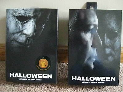 laurie strode and micheal myers ultimate halloween neca 6 in mib