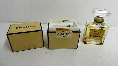 Vintage Chanel No.5 Boxed Perfume Scent Bottle
