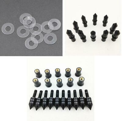 Motorcycle Windscreen Silver Spike Bolt Kit Well Nuts// Bolts// Washers
