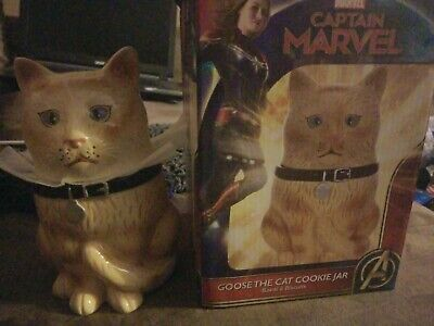 NIP Marvel Comics Captain Marvel Goose The Cat (Flerken) Ceramic Cookie Jar NICE