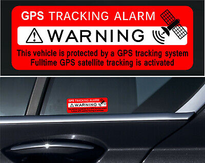 4 X GPS Tracking Stickers Alarm Car Vehicle Security THEFT PROTECTION REVERSE +