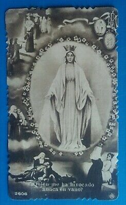 estampa religiosa antigua VIRGEN MILAGROSA holy card