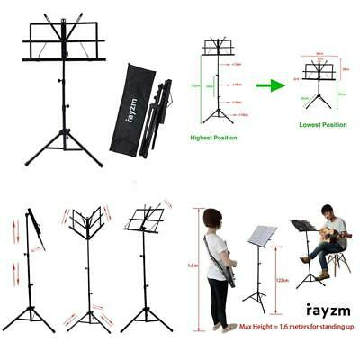 Rayzm Sheet Music Book Stand,Sturdy Portable Folding Metal Stand With Carrying B
