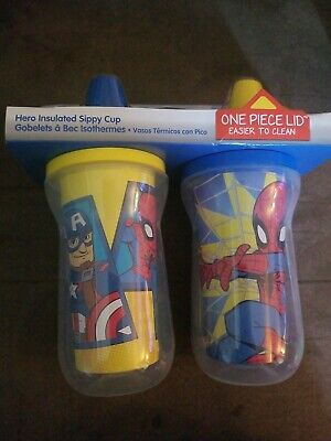 NIP First Years Marvel Comics 2 Pc. Insulated Sippy Cup BPA-free Dishwasher-safe