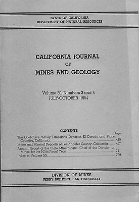 GOLD MINES, Los Angeles County, CA; RARE old book, NONE BETTER, 5 big sep maps !