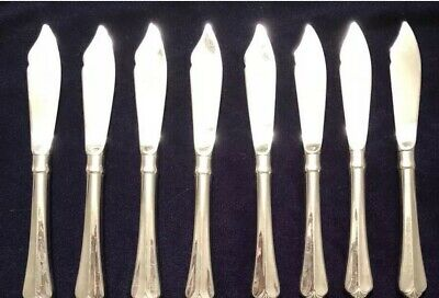 Lot of 8 Oneida Julliard Stainless Butter Knife Spreader