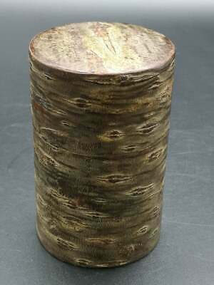 Japanese cherry bark iron Tea Chaite tea caddy canister Tall 10 Cm