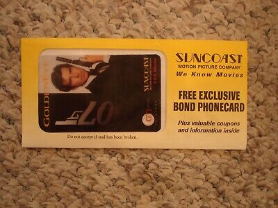 Exclusive James Bond Phonecard 007 Goldeneye Suncoast new and sealed 5 minutes