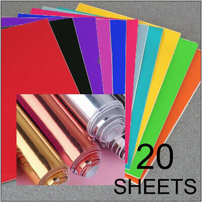 20 x Sheets A4 Self Adhesive Vinyl Sticker Decal Car Craft Sign Scrapbboking