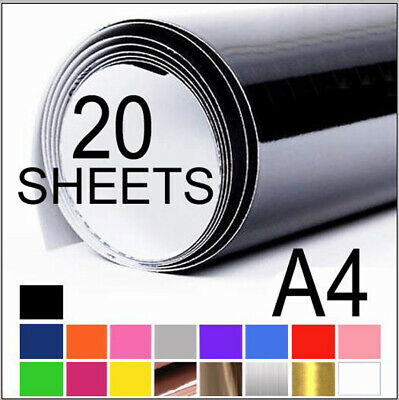 20 x Sheets A4 Vinyl Sticker Decal Self Adhesive Car Craft Sign Scrapbboking