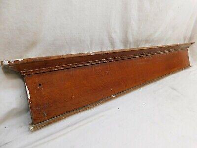1900's Antique DOOR PEDIMENT Lintel Header CRAFTSMAN / MISSION Style Oak ORNATE
