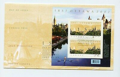 Canada FDC #2213 Ottawa 150th Anniv Souv Sheet 2007 73-6