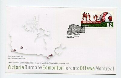 Canada FDC #2220 FIFA World U20 Soccer Football 2007 73-6