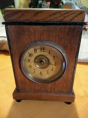 Antique Mantle Clock Made By unghans j (parts or repair only)