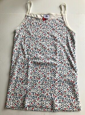 PETIT BATEAU Kids 10ans / 138CM - Floral Tank Top - NEW WITHOUT Tags