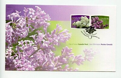Canada FDC #2207-08 Lilacs Flowers 2007 73-6
