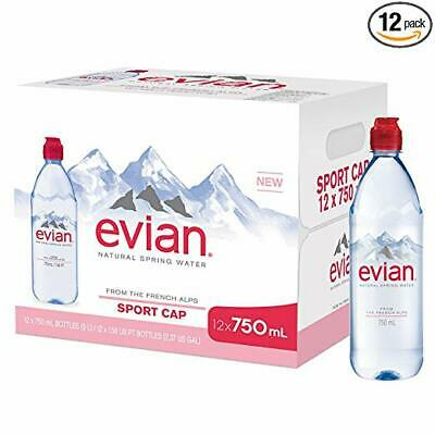 EVIAN NATURAL SPRING Water One Case of 24 Individual 330 ml